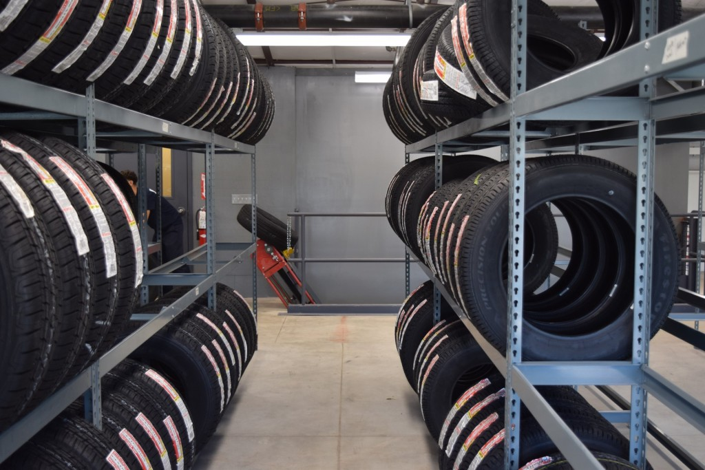ETD's tire storage area
